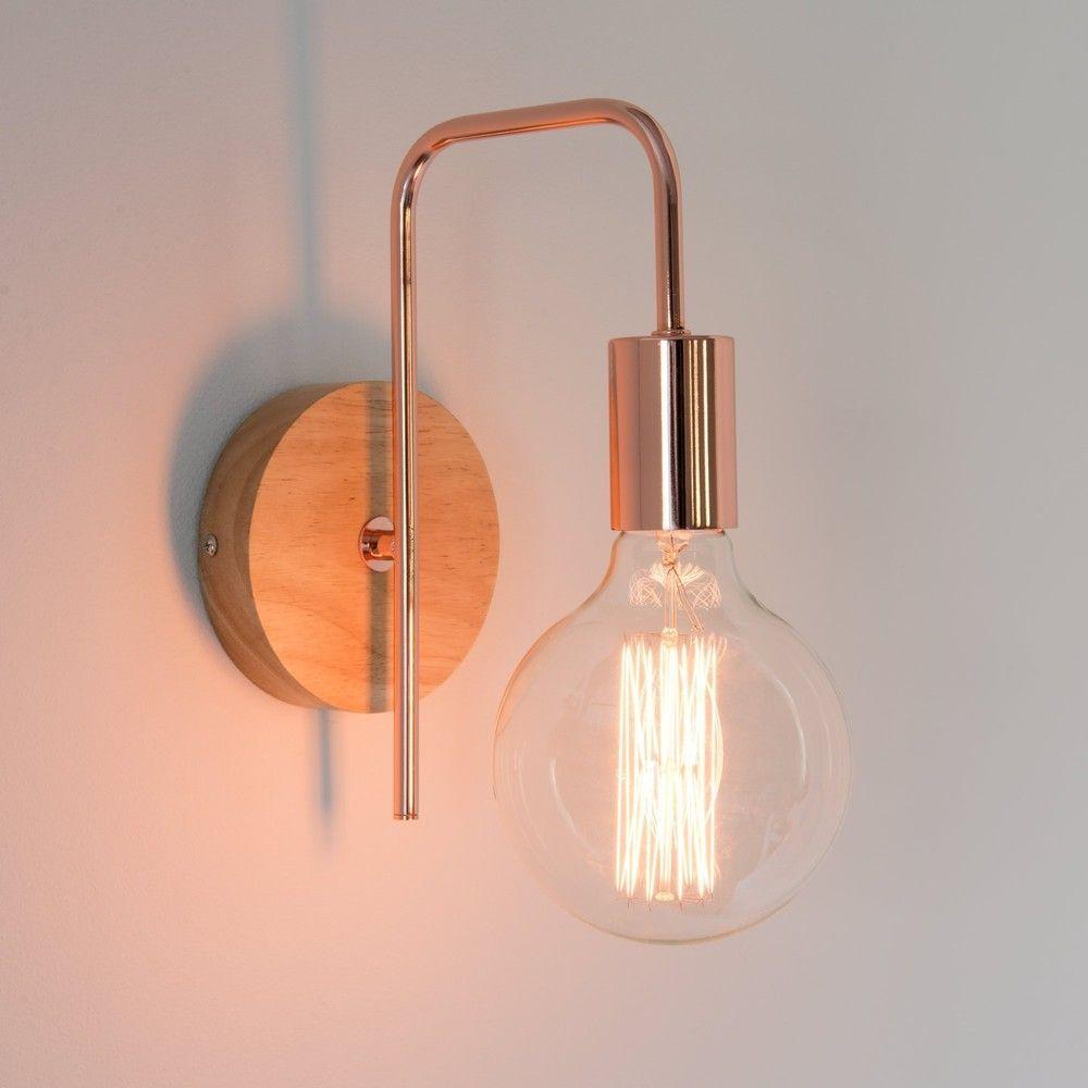 Funky Lamp Wandleuchte Im Industrial Stil Aus Kupferfarbenem Metall Maisons Du Monde Walllamp Wandleuchte Lampe Wand Wand Ideen