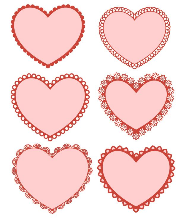 photograph about Printable Valentines Hearts named Absolutely free Printable Valentine Hearts Valentines Working day * MyLitter
