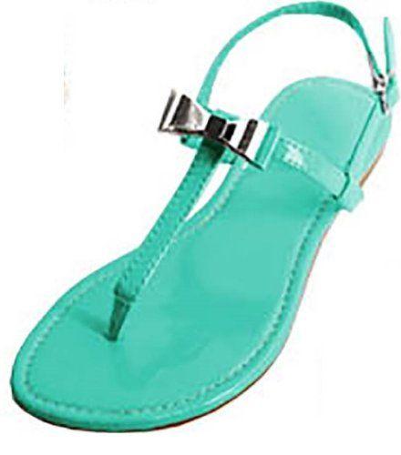 54f9955f55f Shoes 18 Womens T Strap Roman Gladiator Sandals Flats W Bow 6 Colors ...