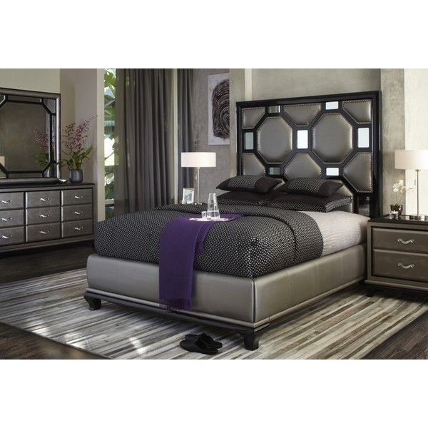 Michael Amini After Eight Modern Upholstered Bedroom Furniture Set Liked On Polyvore