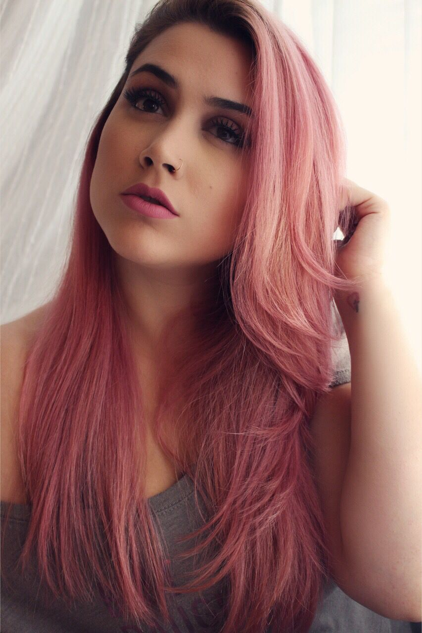 Mauve Pink Hair- Ion Demi Permanent Smoky Pink # ...