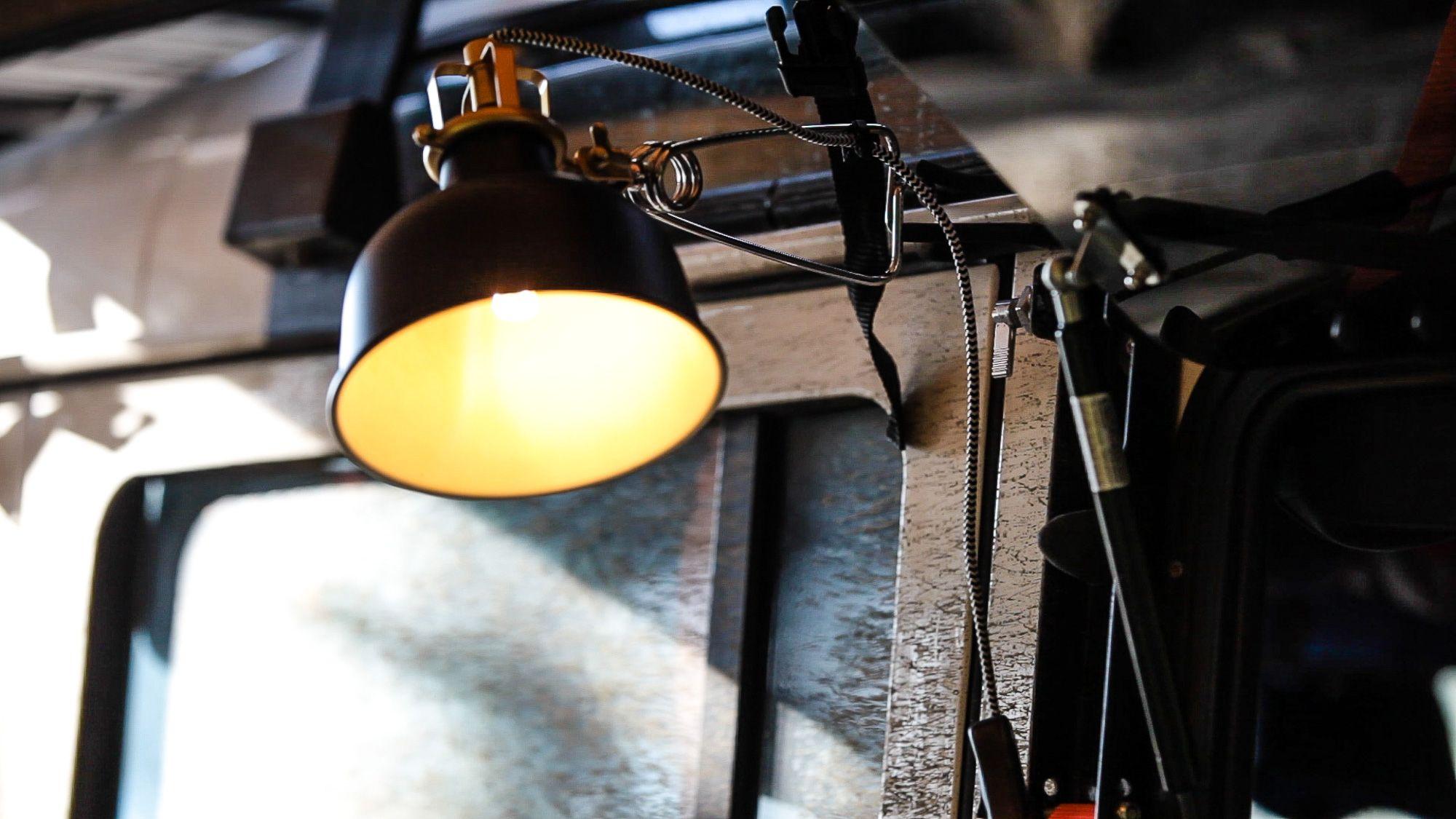 Ikea Lampe Auf 12v Getrimmt Mit Led Ideal Fur Den Camper