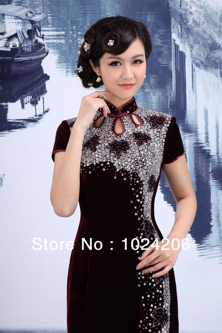 dbe4810ad32eb Pin by Sophia Wang on Fashion / Qipao | Traditional dresses, Chinese ...