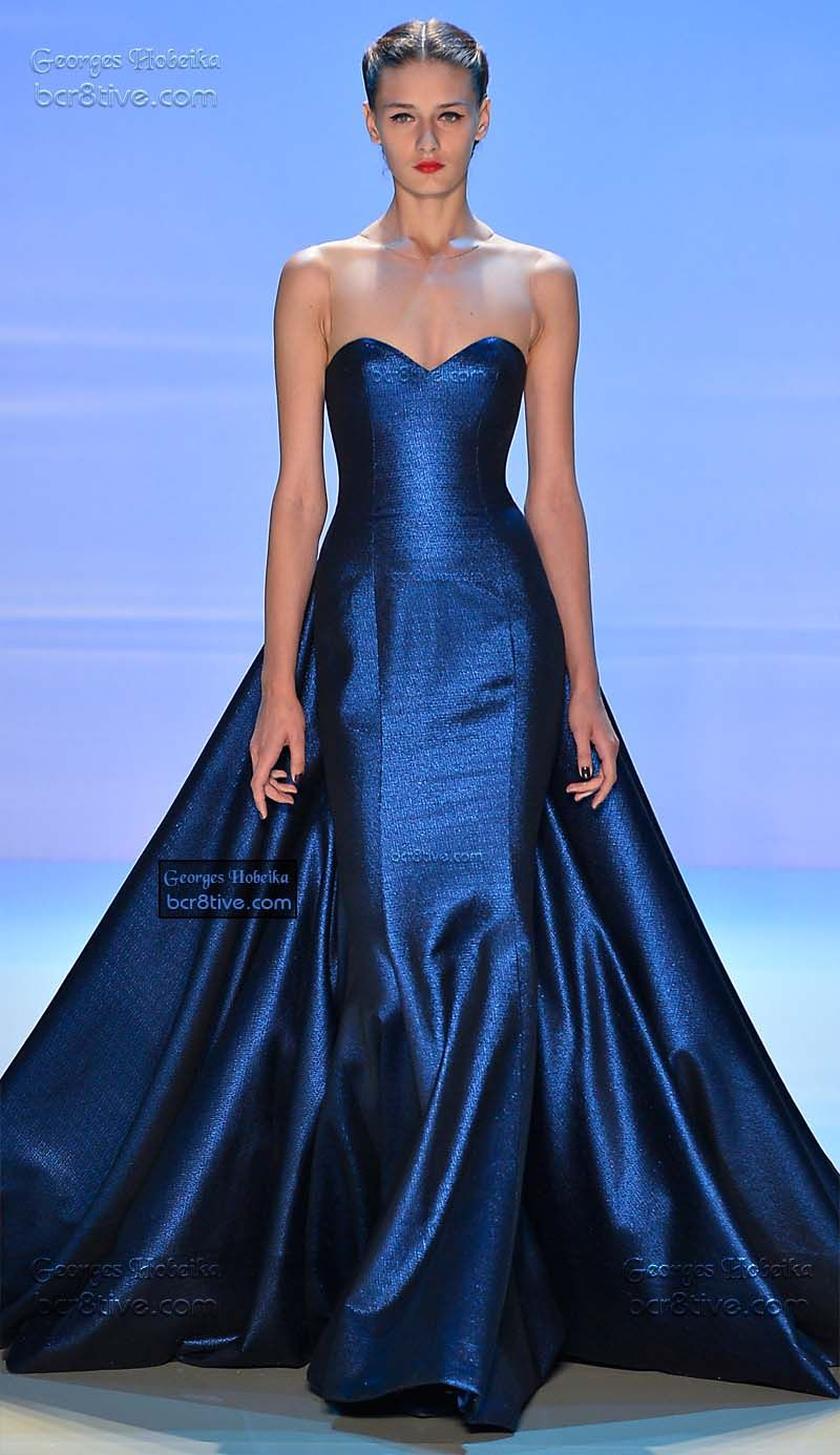Monetus midnight stroll by georges hobeika couture gowns and blue