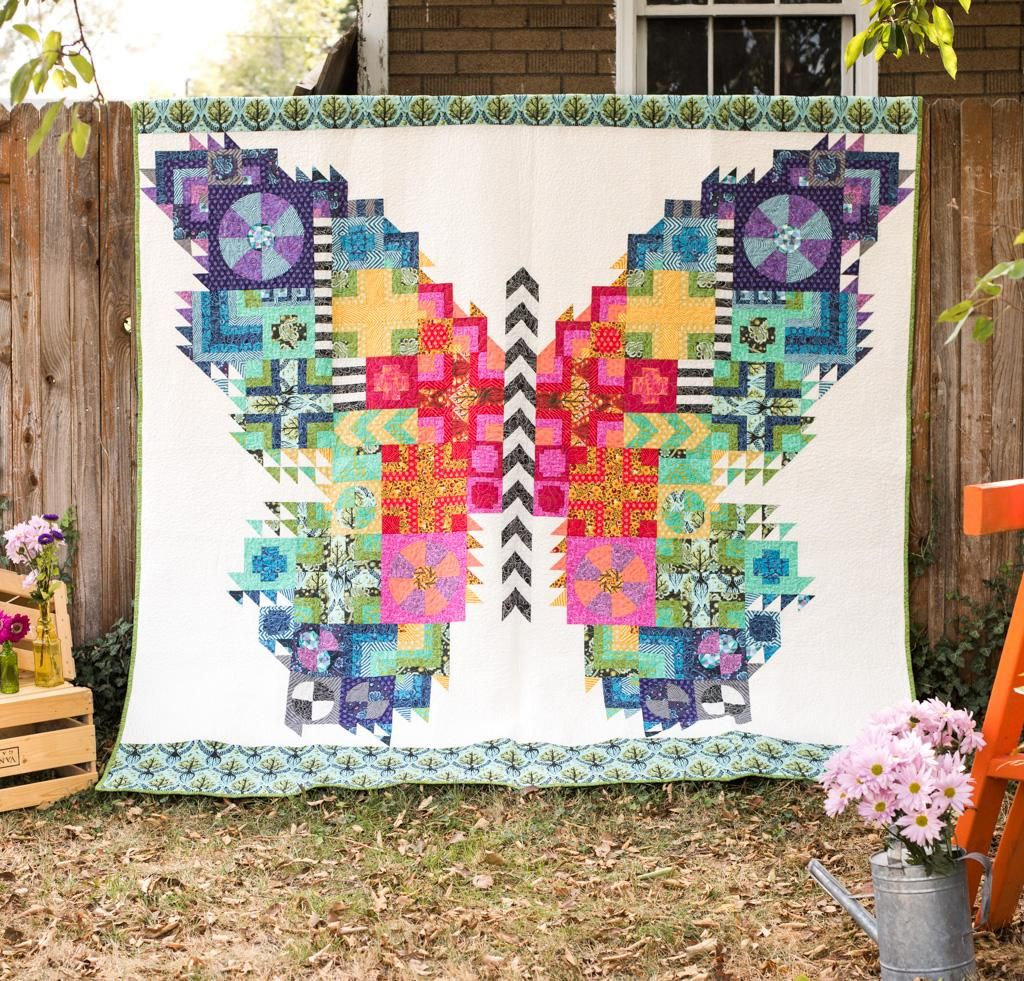Butterfly Quilt Kit | True colors, Butterfly and Tula pink fabric : tula pink quilt kits - Adamdwight.com