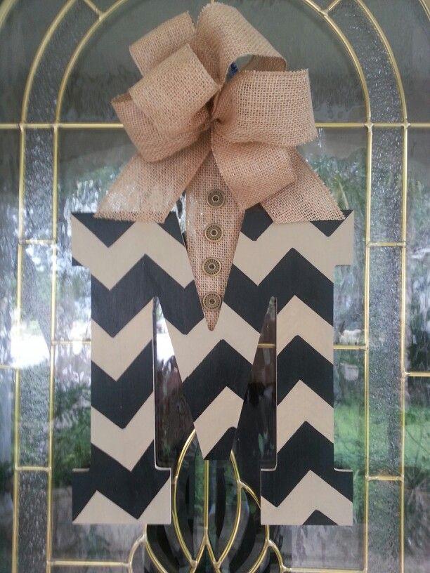 Chevron Front Door Wreath ...Made for A sister Murph!