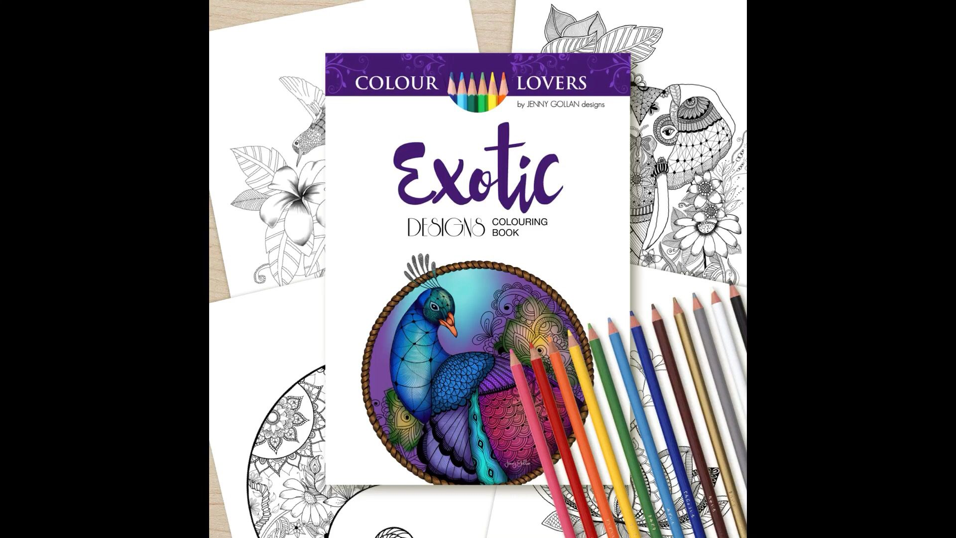 Exotic Designs #colouringforadults #colouringbook #colouring ...