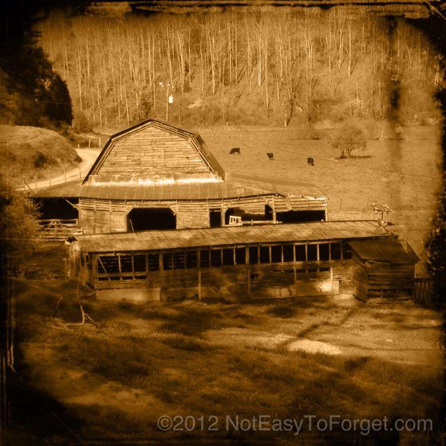 Same barn in Sepia.