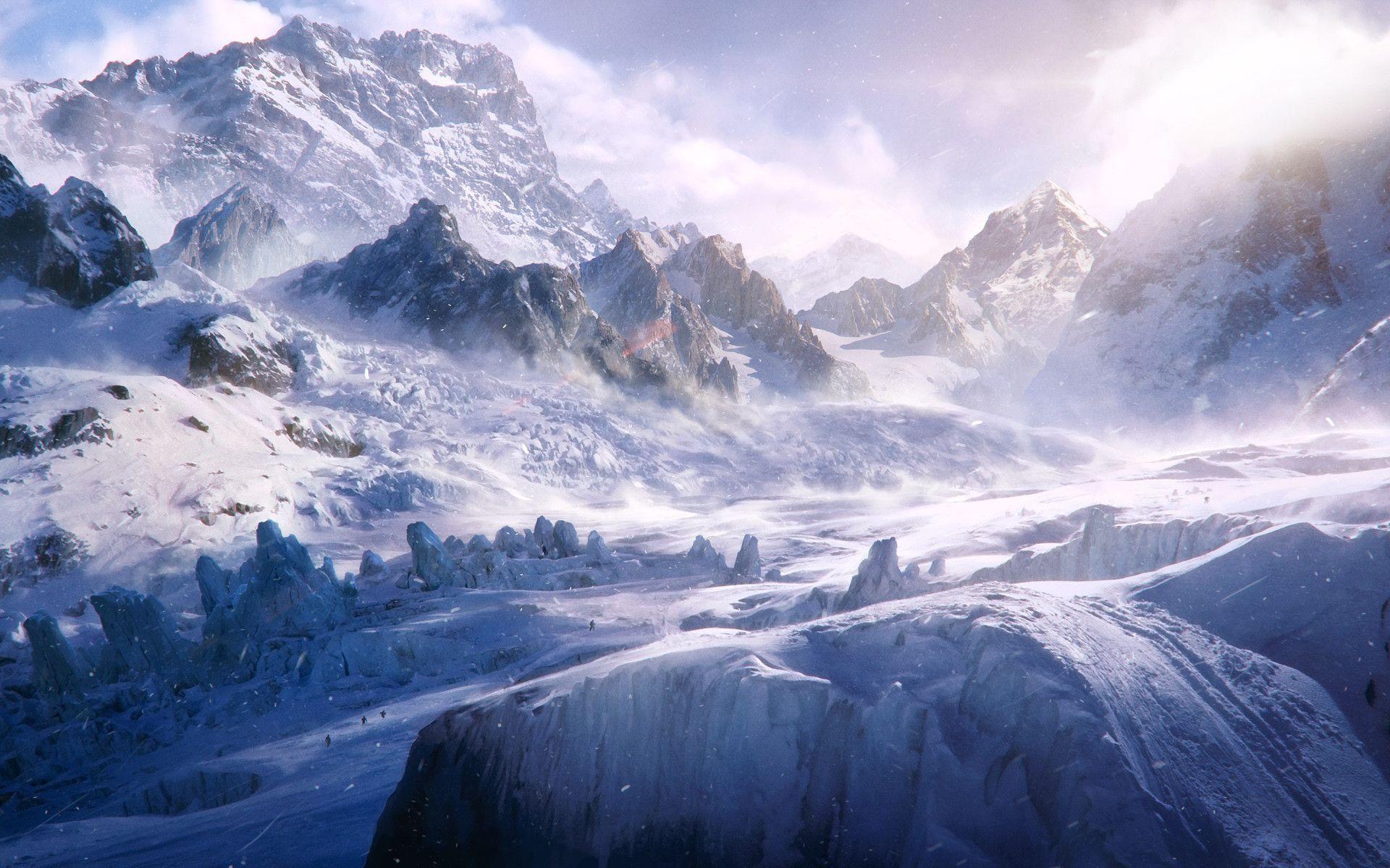 Frozen Tundra 1920 X 1200 Beautiful Landscape Wallpaper Hd Landscape Landscape Wallpaper