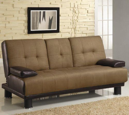 Brown Microfiber Vinyl Leather Finish Sofa Bed By Coaster 300134 Home Life Http