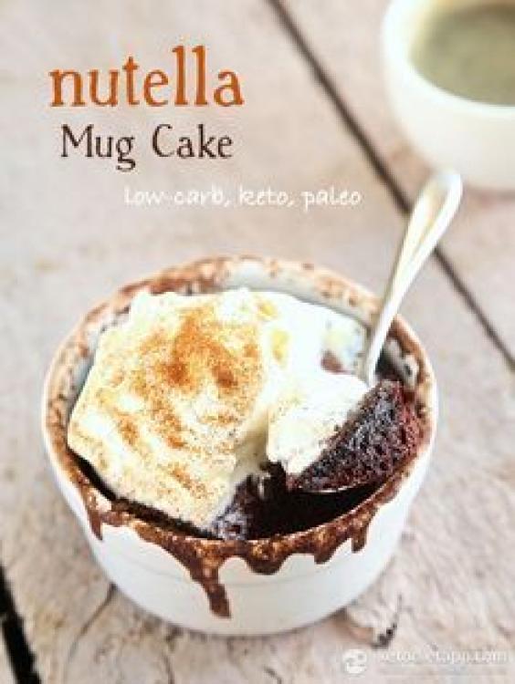 Nutella Mug Cake (low-carb keto paleo) #paleodessert in ...