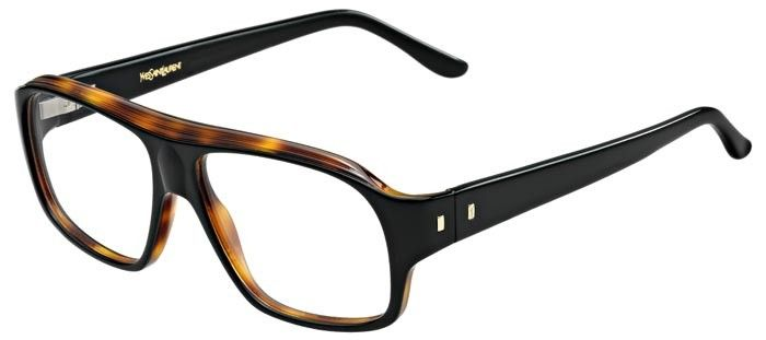 Lunettes de vue pour hommes Yves Saint Laurent YSL-2350 de couleur noire. 6d63885a9605