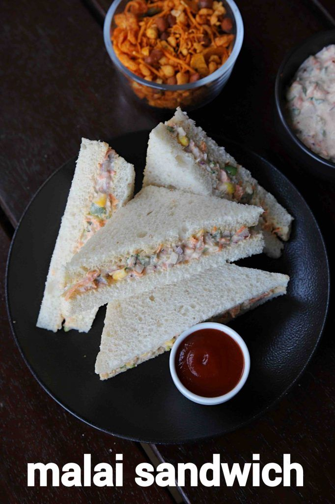 veg malai sandwich recipe | bread malai sandwich |