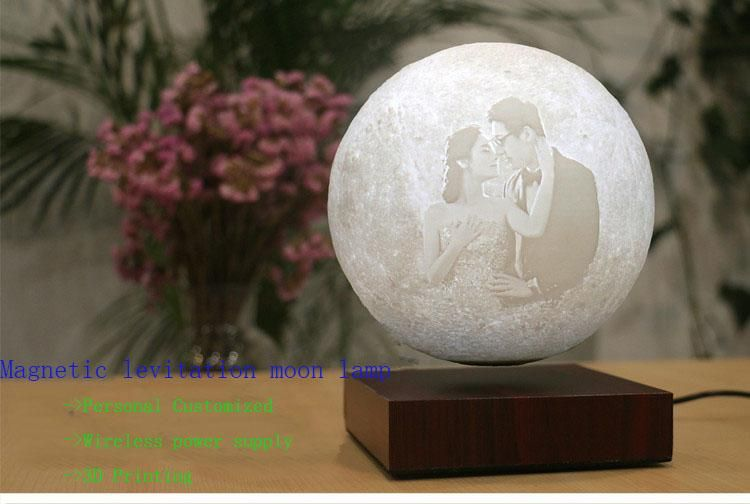 Magnetic Levitating 3d Printing Moon Lamp Personal Customized Christmas Gifts For Girls 3d Printing Best Christmas Gifts