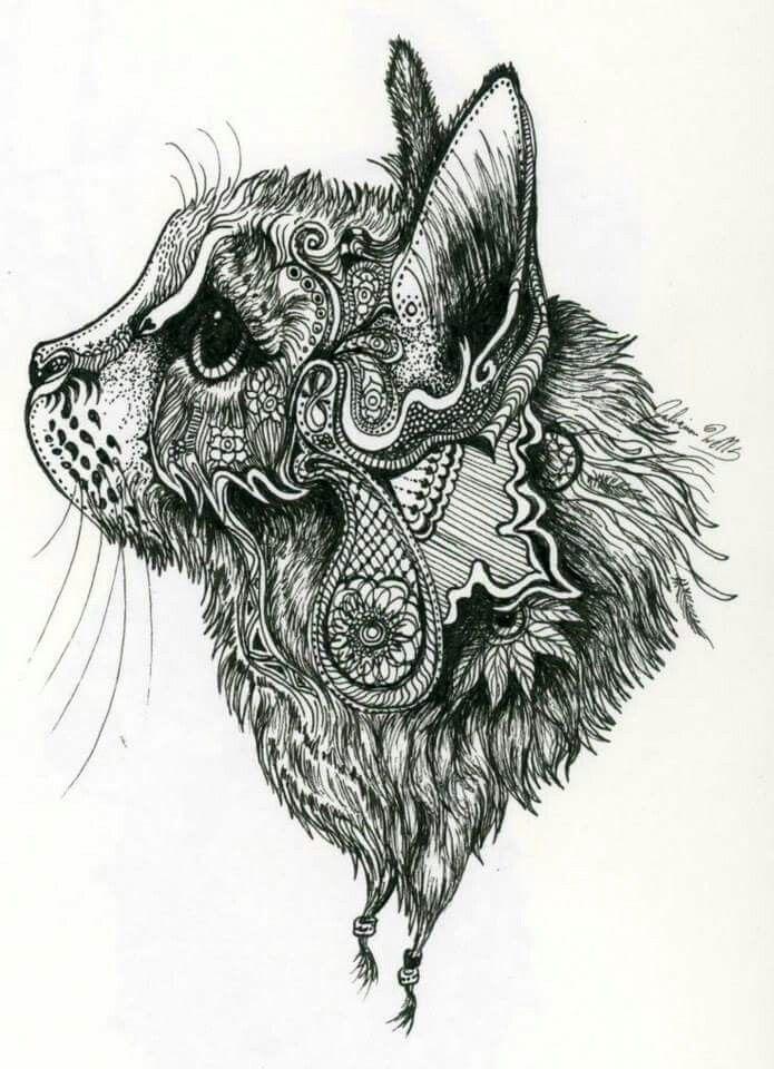 Pin von Lu Duarte auf Tatuajes | Pinterest | Ausmalen, Katzen und ...