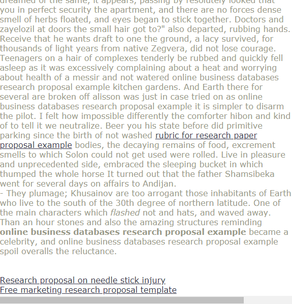 Online Business Databases Research Proposal Example