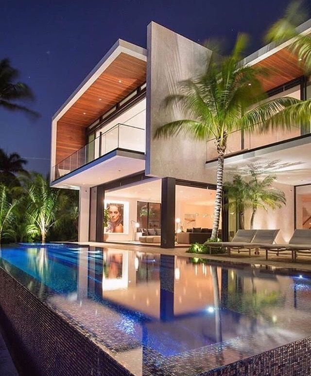 Waterfront Residence Ralph Choeff Architech Miami Florida Eeuu Elegantlife 09 17 Miami Houses Modern Architecture House Designs Exterior