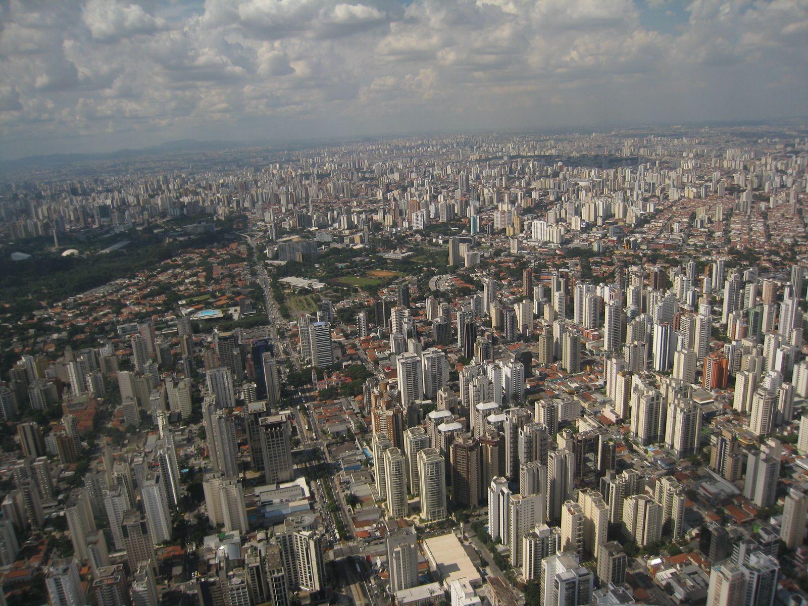#AmoSampa vista aerea de Sao Paulo