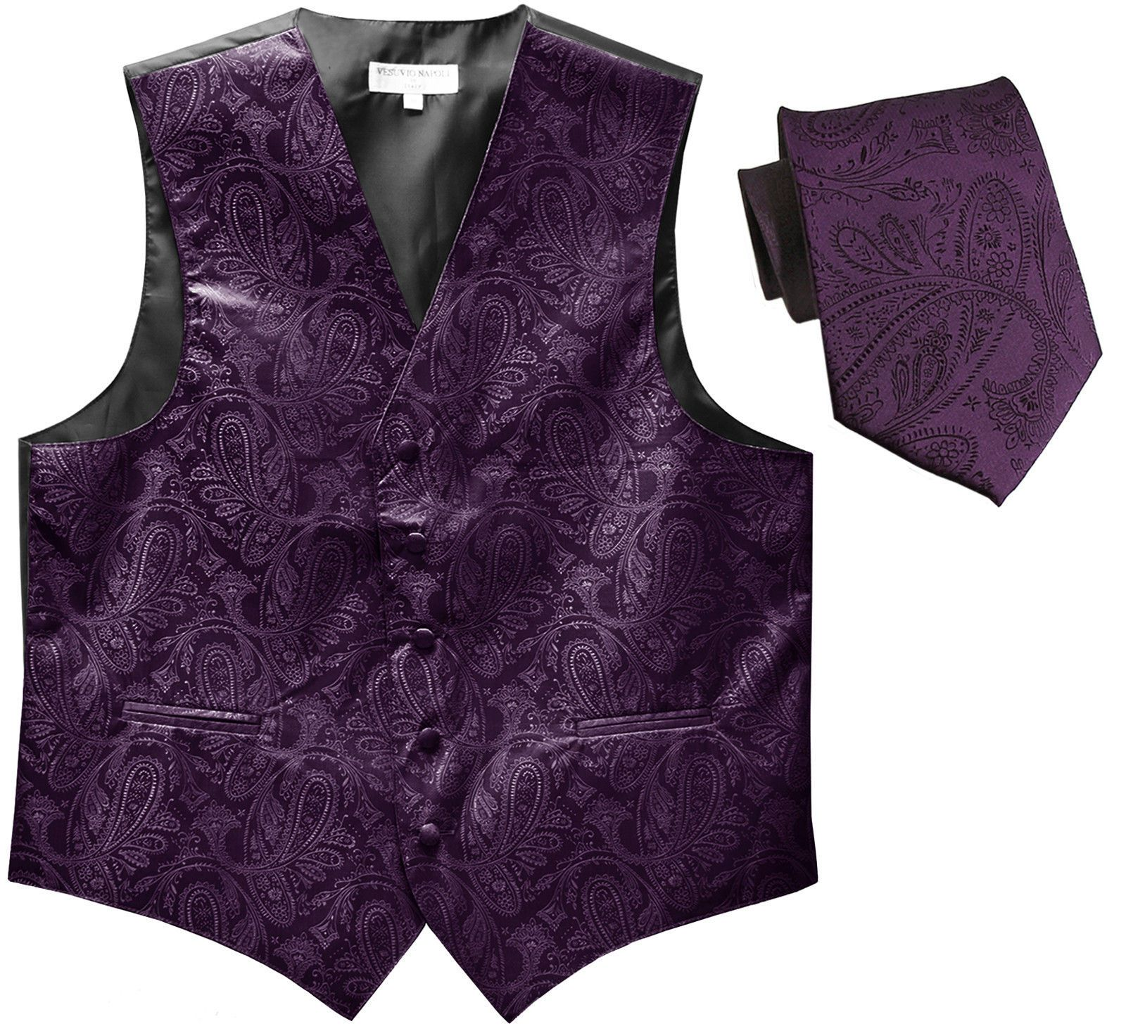 WEDDING PROM MEN/'S LAVENDER PAISLEY FORMAL DRESS TUXEDO VEST /& BOW-TIE SET