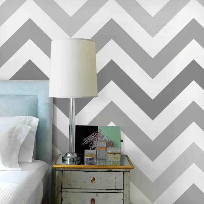 Paintable Peel And Stick Wallpaper Panel Bedroom Wall Designs Stripe Wallpaper Bedroom Kids Room Wallpaper