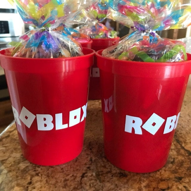 20 Cups for Roblox Cup Birthday Decorations Party Disposable Cups Supplies Set for Children