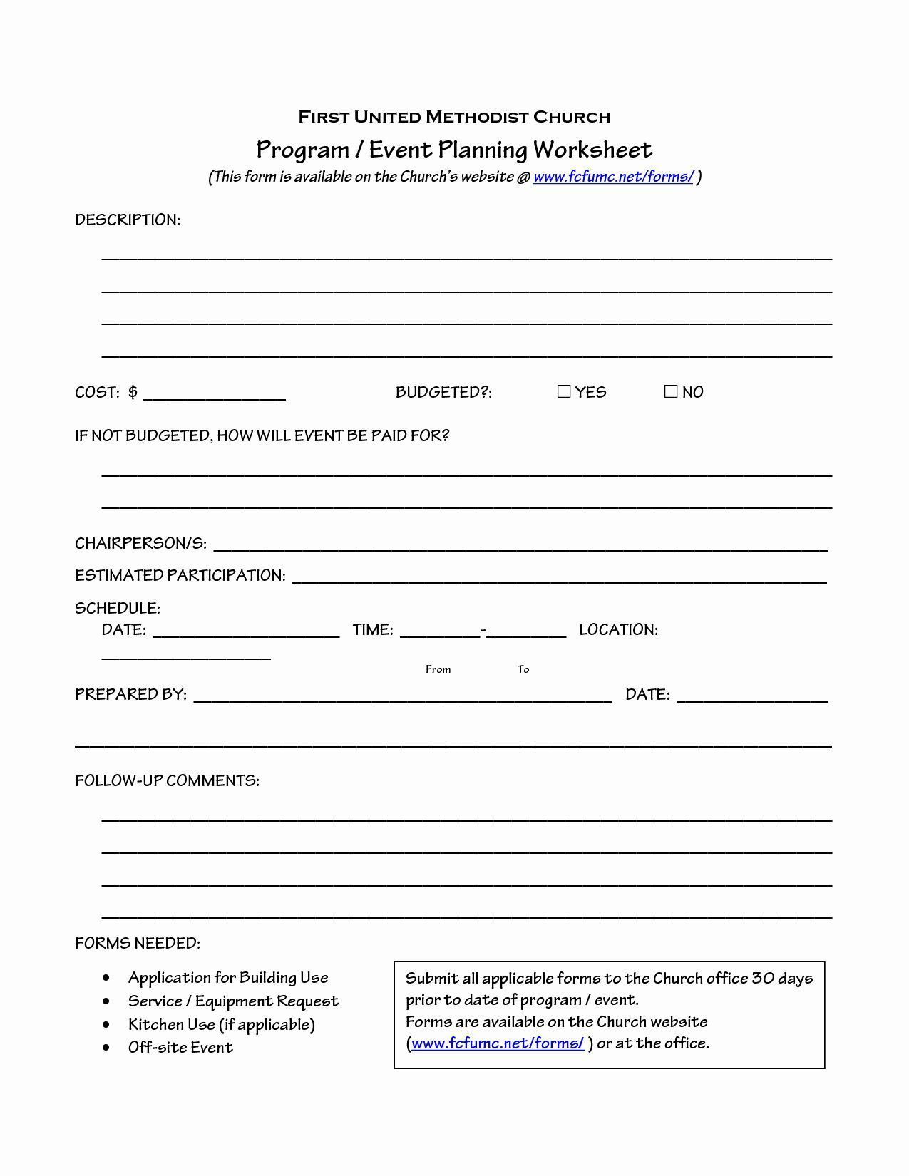 Church Ministry Budget Template Beautiful Church Event