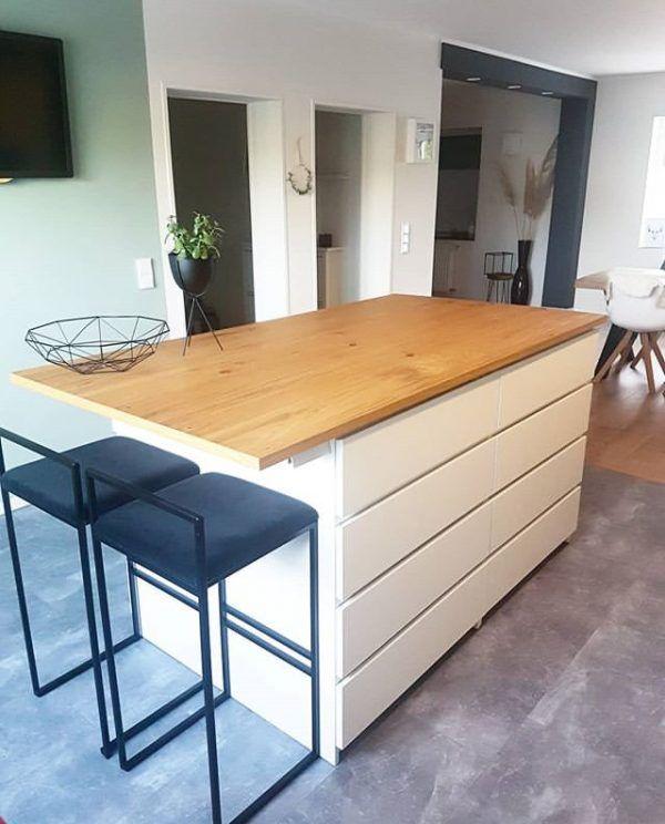 Ikea Malm Kitchen Island Dresser Hack