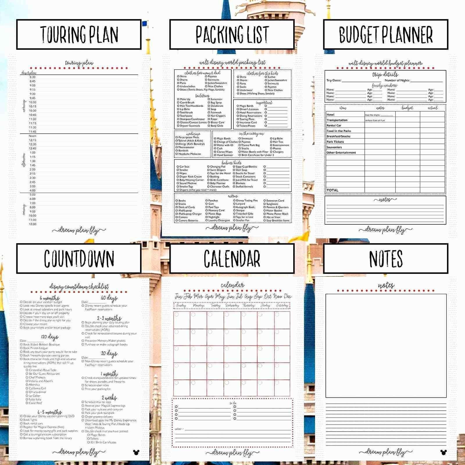 Sample Bookkeeping Spreadsheet Travel Planner Template Travel