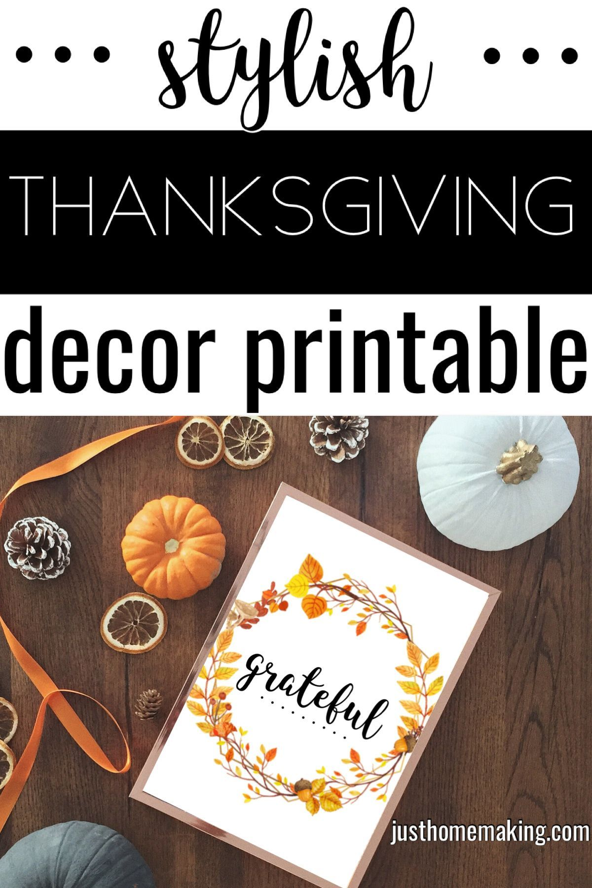 Beautiful Fall Printables For Home In 2020 Thanksgiving Decor Printables Fall Printables Spring Cleaning Hacks