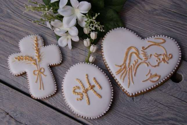 Podziekowania Dla Gosci Komunia Pierniczki Ciasteczka Wodzislaw Slaski Image 1 Sugar Cookie Desserts Cookies