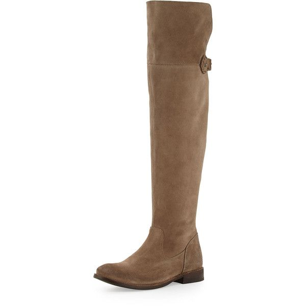 Frye Shirley Over-The-Knee Riding Boot (2.165 RON) ❤ liked on Polyvore  featuring shoes, boots, ash, knee-high boots, over knee suede boots, suede  boots, ...