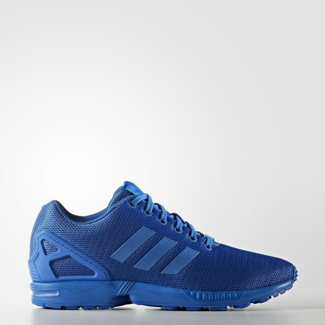 Adidas Zx Flux Bold Runing Shoes White Blue Mens Worthy