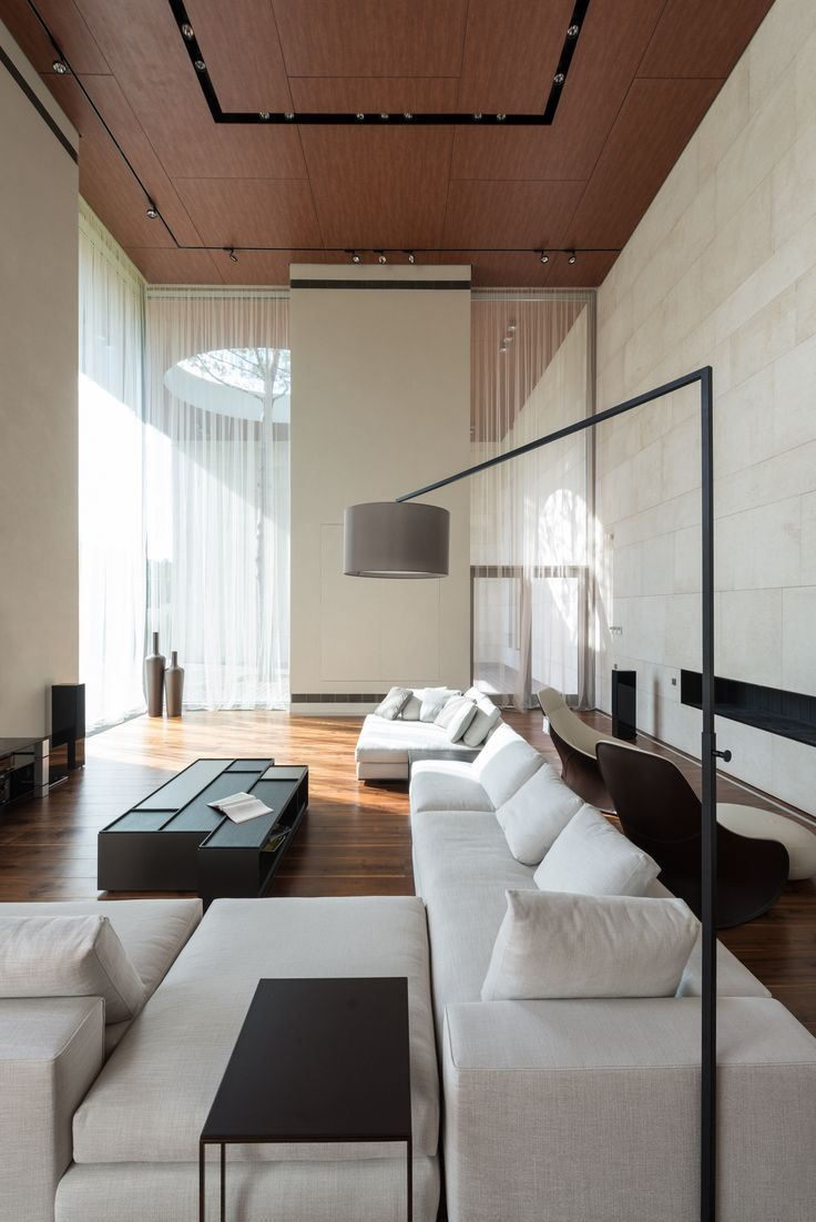 Gallery Of Zhukovka Xxi Unk Project Architects 4 Simple Living  -> Sala Simples Clean