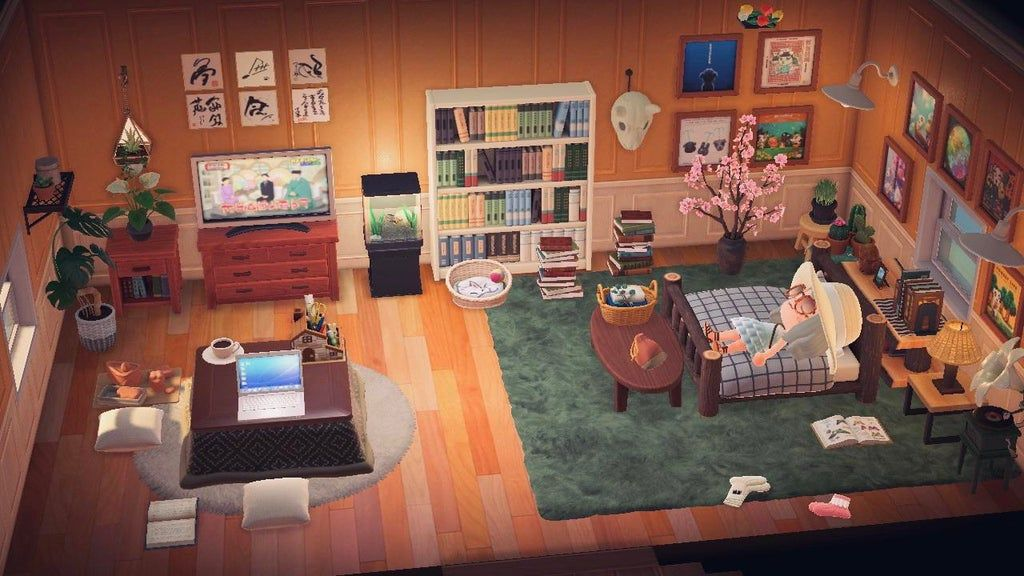 My current bedroom! : ac_newhorizons in 2020 | Animal ... on Animal Crossing Bedroom Ideas New Horizons  id=71023