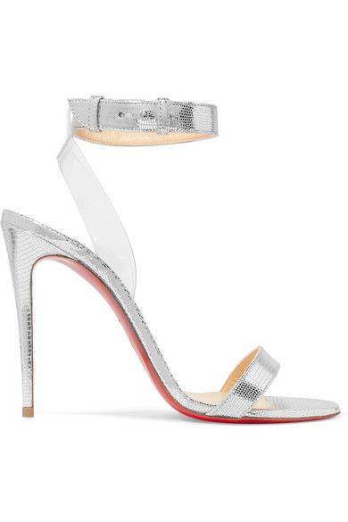 c33c20093aa2 Jonatina 100 Pvc-Trimmed Metallic Lizard-Effect Leather Sandals ...