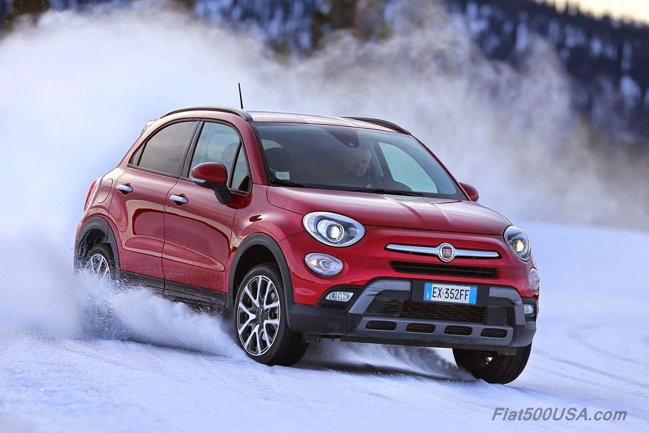 Fiat 500x On Snow And Ice Fiat 500 Fiat Super Cars