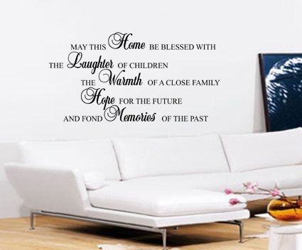 "/""May This Home/"" Removable Wall Art Quotes Vinyl Decal Stickers Home Decor Mural"