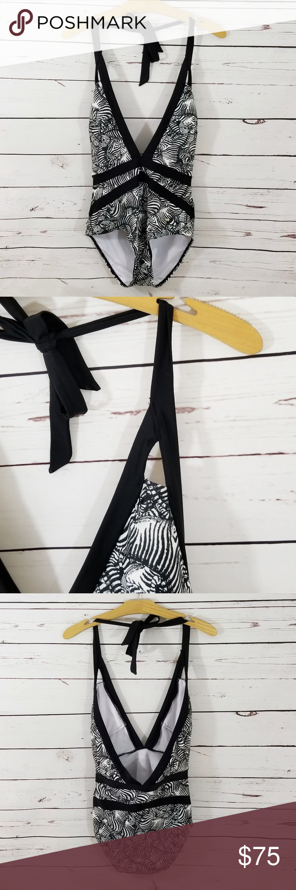 aef7d2e75c9b4 Ted Baker Meirian Zebra Print One Piece Swimsuit NWT - Brand new. Hygienic  liner intact. Ted Baker one piece swimsuit. Zebra print. Removable pads.