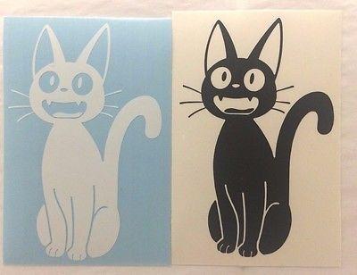 Studio Ghibli Kikis Delivery Service Black Cat JIJI MEOW Vinyl - Vinyl decal cat pinterest