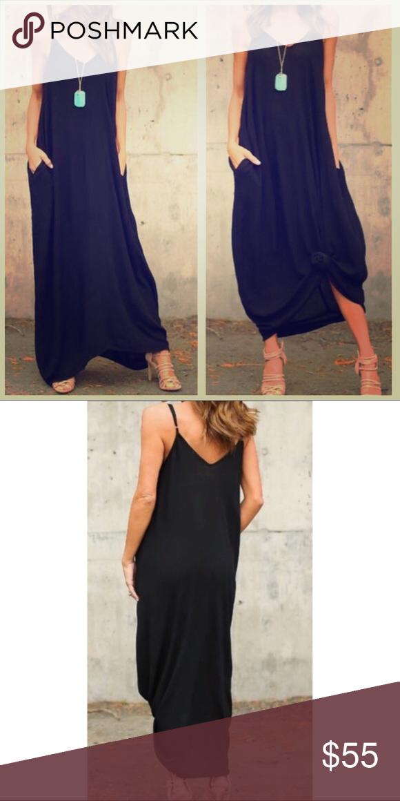 Last One Black V Neck Cami Maxi Dress Boutique Girls Fashion Dress Cami Maxi Dress Boutique Maxi Dresses