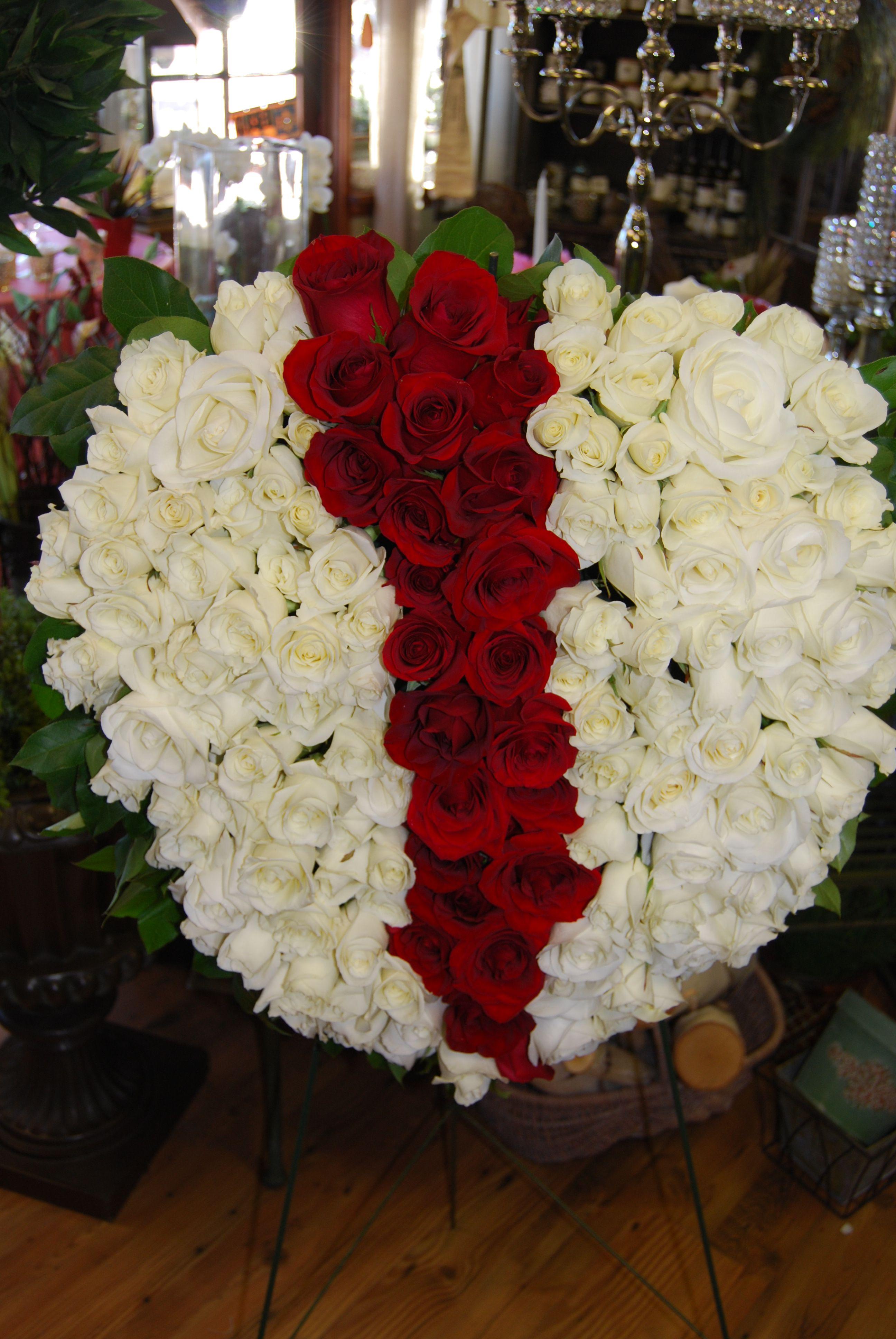 Bleeding Heart Funeral Flower Arrangement Funeral flower