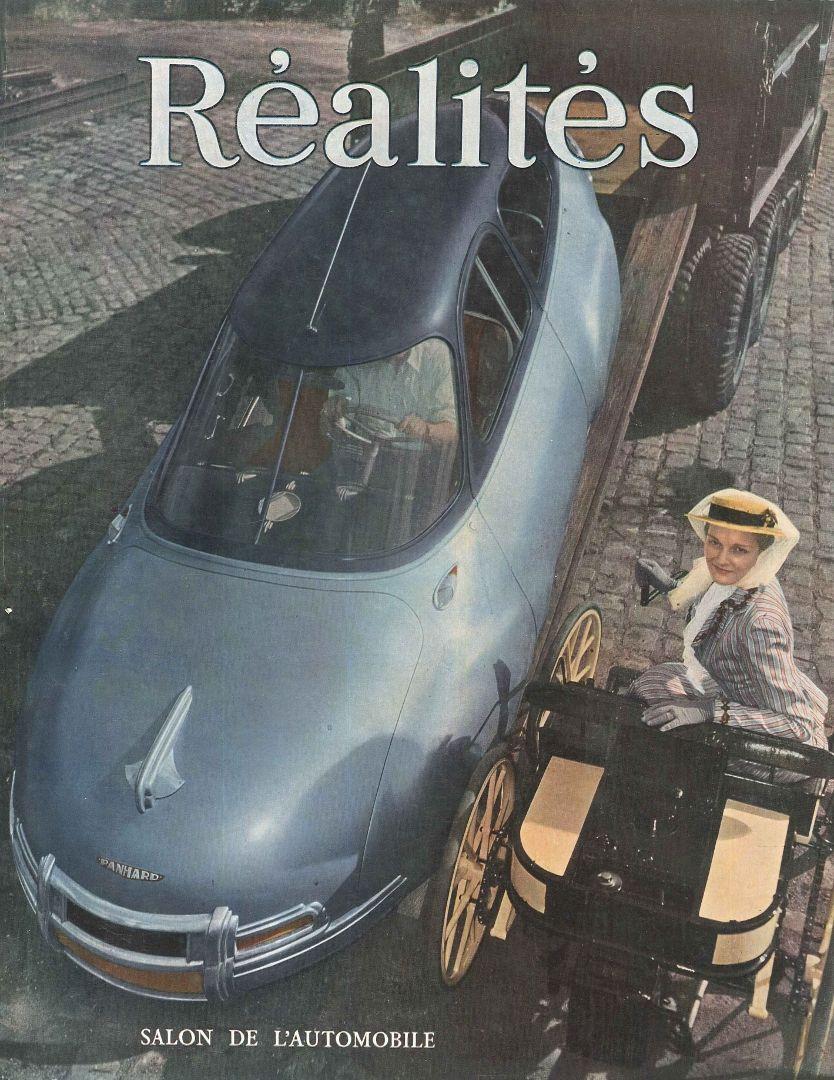 Salon de l'automobile (photo H.-O. Meerson) - Réalités n°57, octobre 1950.