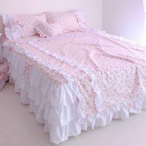 king sale blue set floral size me mostafiz chic queen for comforter ruffled pastel shabby sets bunk bed cream beds bedding duvet