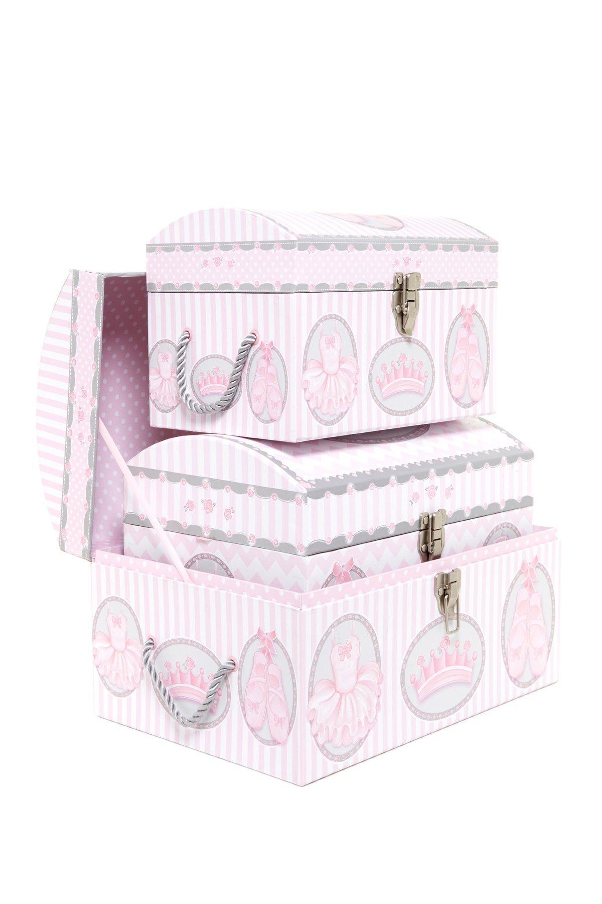 sc 1 st  Pinterest & Tri Coastal Design | 3-Piece Beautiful Ballerina Dome Trunk Set