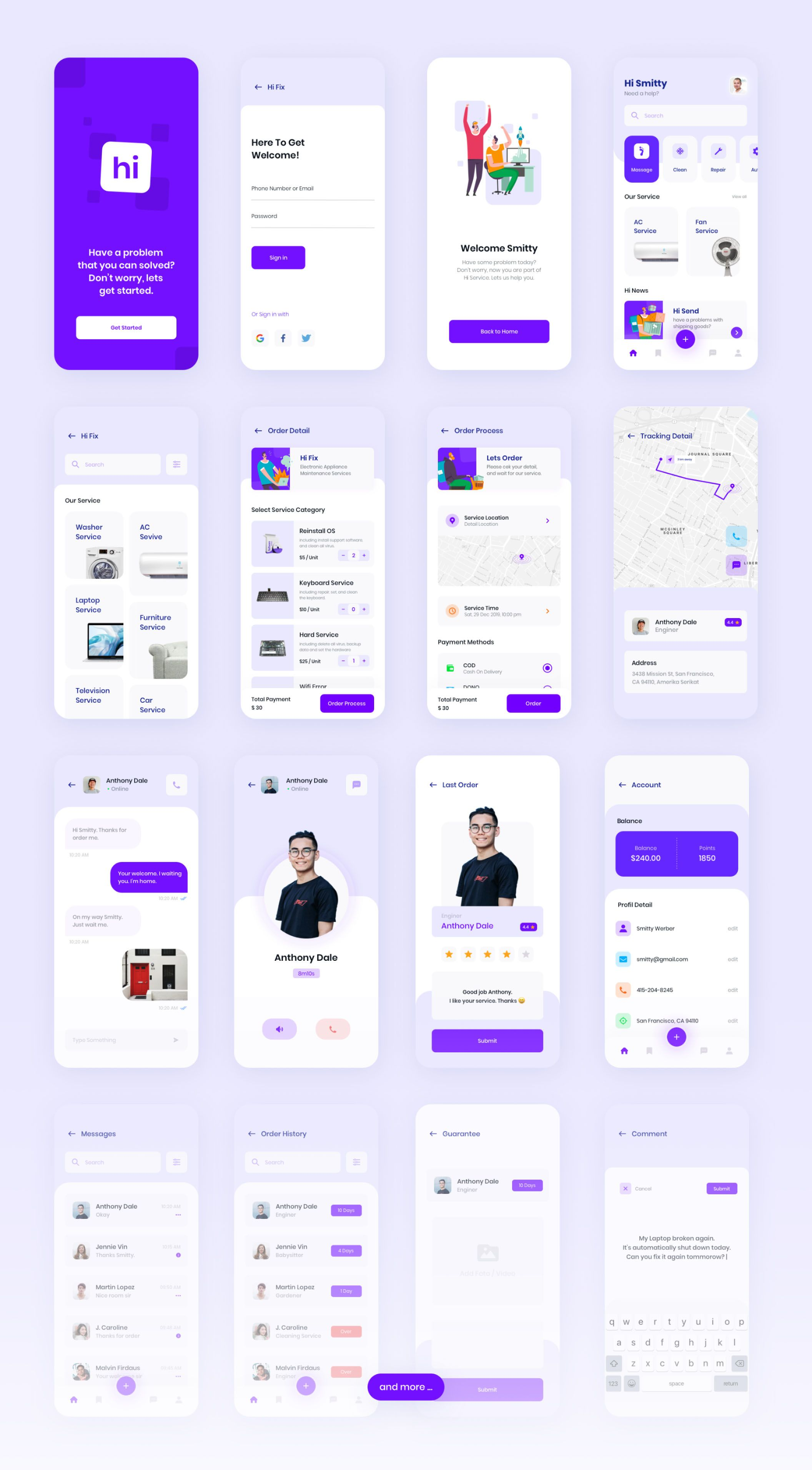 Hi - Social Service App UI KIT - Find the Perfect Creative Mockups Freebies to Showcase your Project to Life