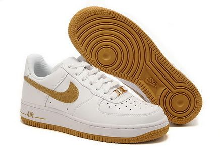 Nike Air Force White Gold