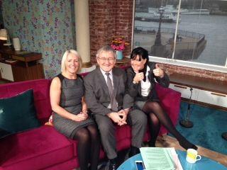 Karen, Nina and DR CHRIS.... on the sofa at ITV THIS MORNING.....
