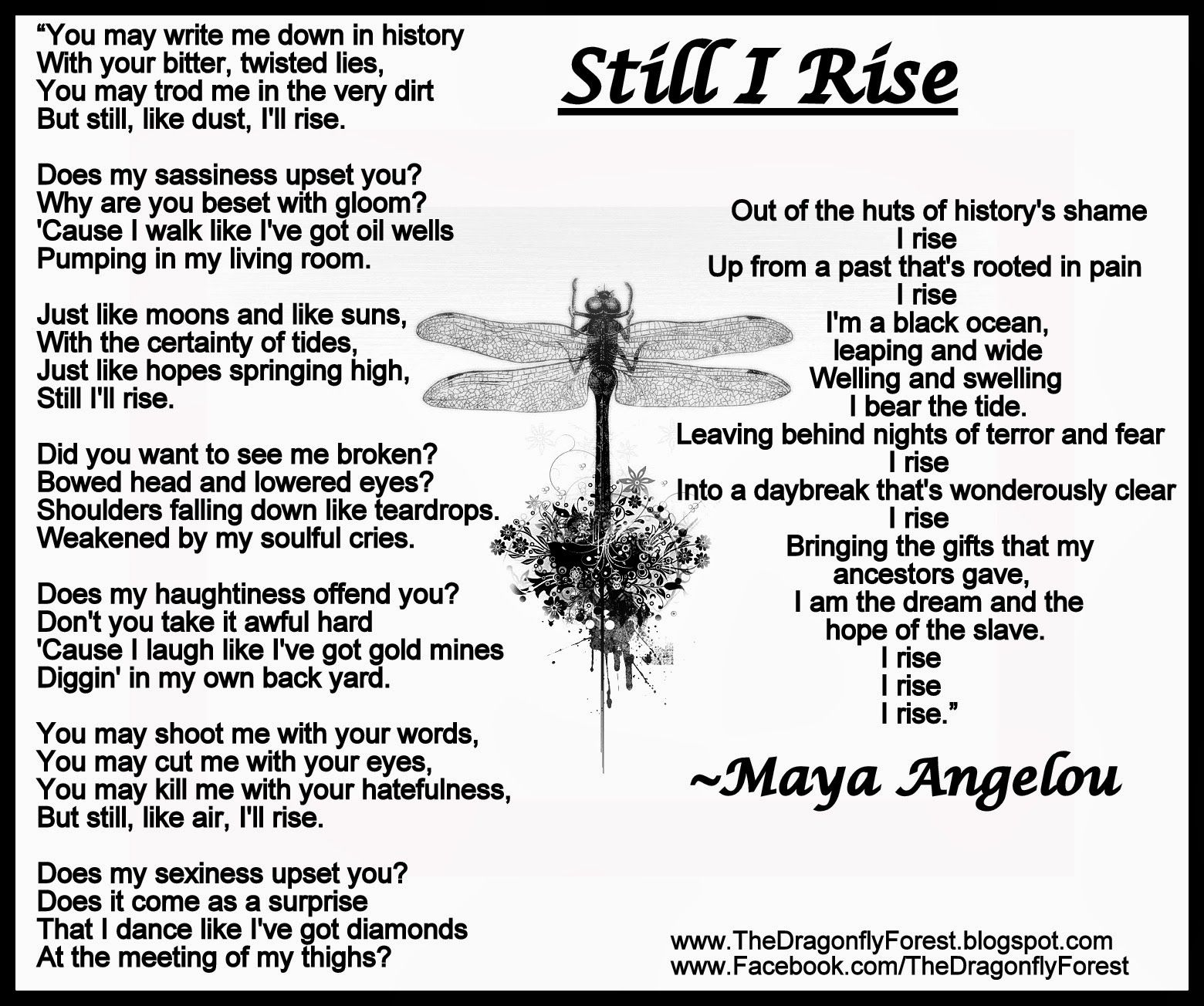 Maya Angelou Quotes Still I Rise