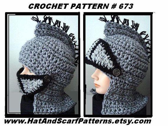 Crochet Pattern Knight Helmet Hat Medieval Viking King Arthur
