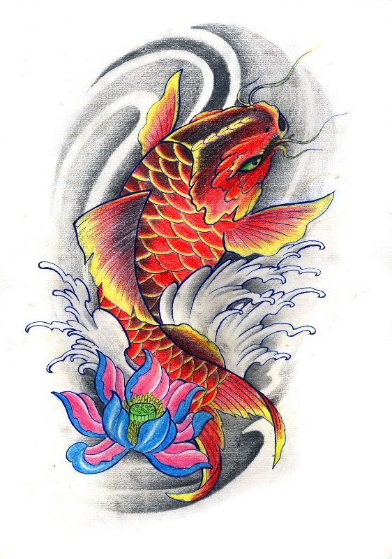 Koi flash art google search tattoos pinterest for Coy fish designs